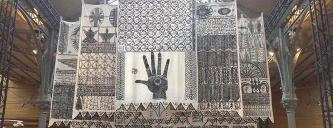 5 Œuvre monumentale Les Maîtres Invisibles Rachid Koraichi - October Gallery