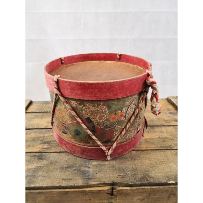 jouet-ancien-tambour-en-tole-litho-militaire-jeux-enfants-deco-de-noel-vintage