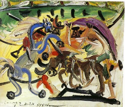 Picasso-Course-de-taureaux.-2-August-1934