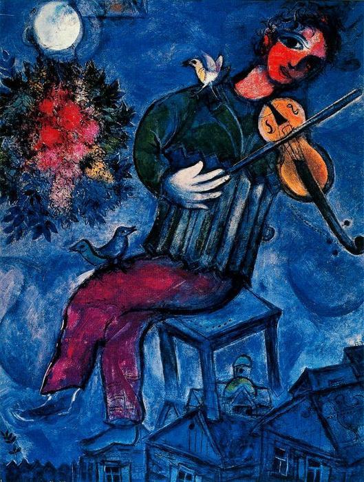 le violoniste bleu
