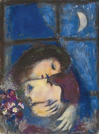 deux tetes à la fenetre chagall